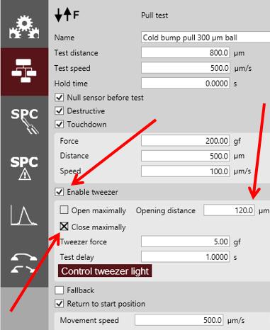CBP settings screenshot