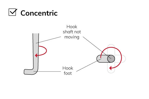 Concentric-hook