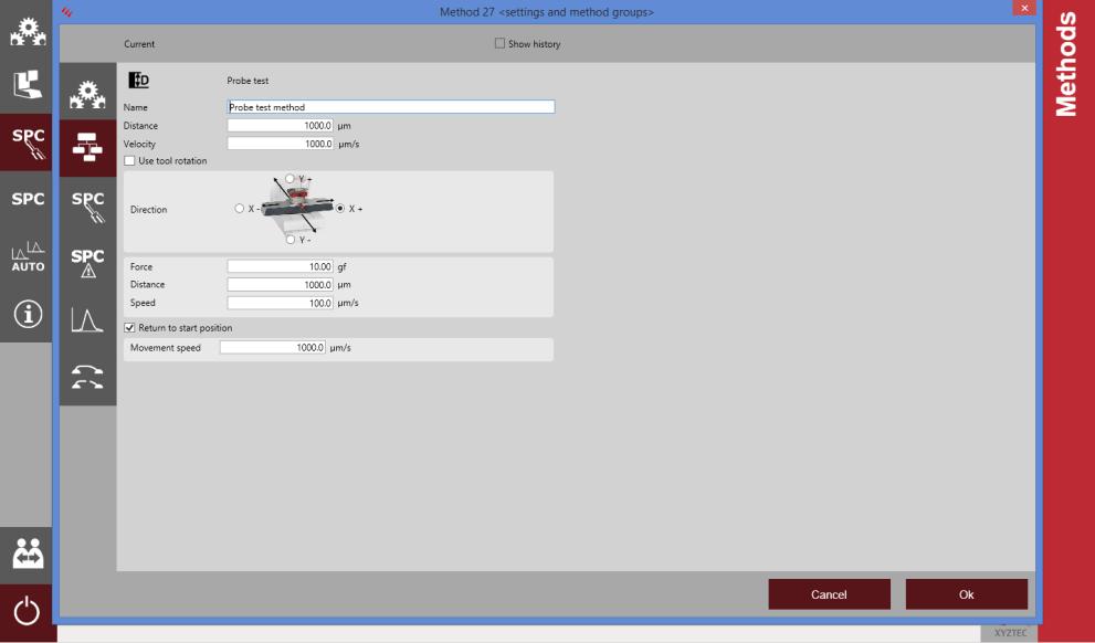 Screenshot-probe-settings