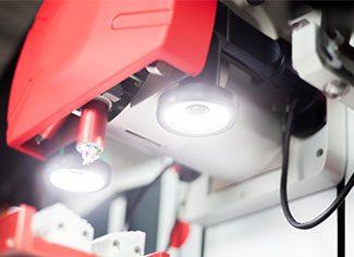 Integrated LED lighting the RMU head
