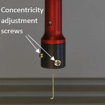 Manual hook concentricity adjustment