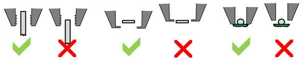 Tweezer pull alignment vertical
